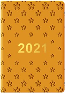 """$38 » Agenda 2021 2021 Planner-8.3""""X5.9"""" Weekly & Monthly Planner,Vegan Leather Hard Cover,Twin-Wire Binding Calendar Planners O..."""