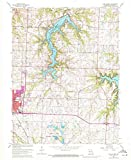 YellowMaps Lake Jacomo MO topo map, 1:24000 Scale, 7.5 X 7.5 Minute, Historical, 1963, Updated 1970, 26.9 x 21.9 in - Polypropylene