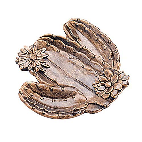Jewelry Trinket Dish Tray, Bronze Resin Cactus Sunflower Jewelry Storage Dish Snack Cake Plates Ring Earrings Tray Decoration Crafts Gifts Home Decor | Cactus01