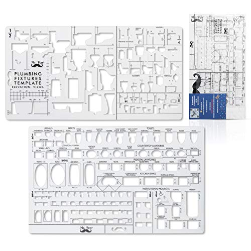 Mr. Pen- Plumbing Template, Architectural Templates, Bathroom Template, Toilet Template, Drafting Tools, Drawing Template, Template Architecture, Drafting Ruler Shapes, Stencils, Plumbing Fixtures