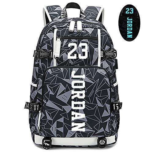 Lorh's store Basketball Spieler Sterne Michael Jordan leuchtende Rucksack Reise Student Rucksack Fans Bookbag für Männer Frauen (Stil 4)