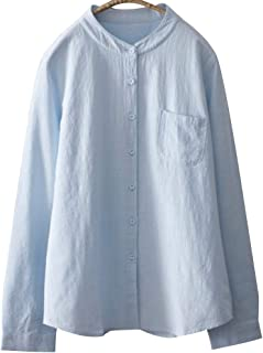 (ボラ-キキ) Bole-kk シャツ ブラウス レディース ワイシャツ Yシャツ 立ち襟 長袖 きれいめ ホワイト入学式 スーツ 卒業式 通勤 通学