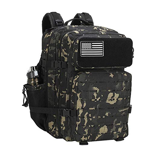 ELITEX Mochila 45L 2021 Táctica Militar Bandera USA Impermeable para Crossfit Caza...