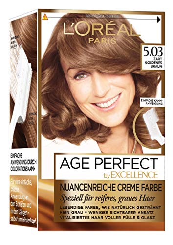 L'Oréal Paris Excellence Age Perfect goldenes hellbraun 1er Pack (1 x 1 Stück)