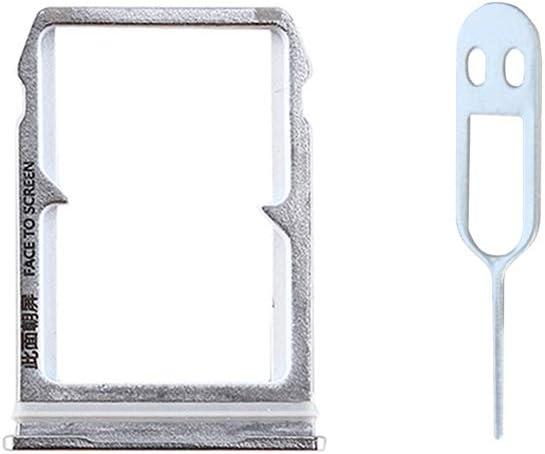 JayTong Tarjeta SIM Bandeja Titular de Repuesto con Remover Eject Pin Tool para Xiaomi 6 Mi6 Mi 6 Plata