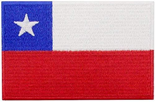 Aufnäher mit Chile-Flagge, bestickt, zum Aufbügeln oder Aufnähen