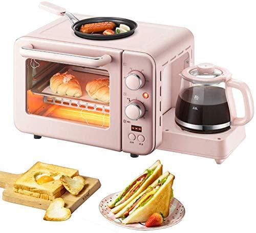 LIULIU 3 in 1 Mini-Elektroofen 8 l Estrich-Frühstücksmaschine Kochkuchen Kochen, Kaffee, Frühstück mit 0,8 l Kessel und Nichtstickofen