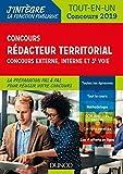Concours Rédacteur territorial. Externe, interne et 3e voie. - Tout-en-un - Concours 2019 (J'intègre la Fonction Publique) - Format Kindle - 14,99 €