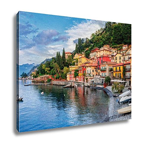 Ashley Canvas Town of Menaggio On Lake Como Milan Italy Wall Art Decoration Picture Painting Photo Photograph Poster Artworks, 20x25