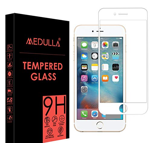 Medulla Edge to Edge White Border 11D Tempered Glass Screen Protector for Apple iPhone 6/6S (Pack of 1)