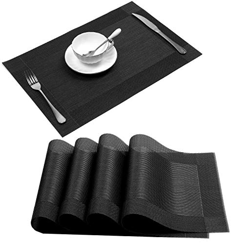 U'Artlines Placemat, Crossweave Woven Vinyl Non-Slip Insulation...