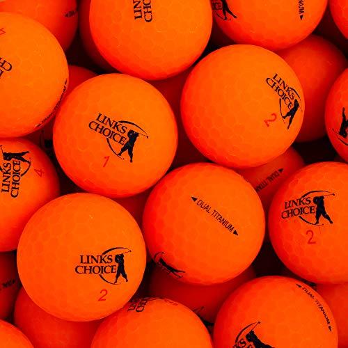 Links Choice Unisex 12Dual Titan Vibe Optik matt Finish Golf Bälle, orange