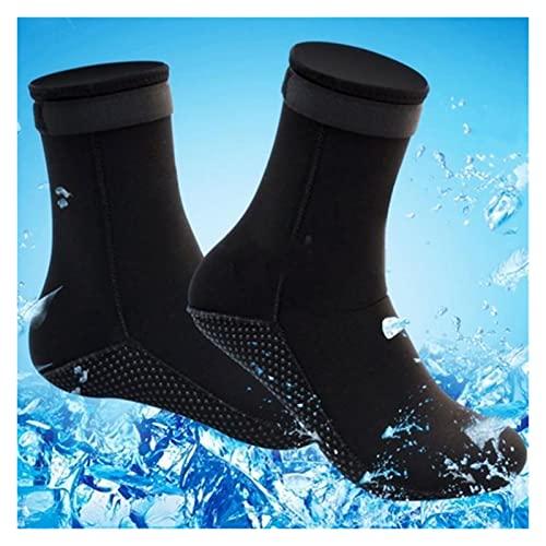 NatacióN Aletas,Aletas De Entrenamiento 3mm de neopreno calcetines de buceo zapatos botas de agua botas de playa antideslizantes de resbalón zapatos de traje de trabajo calentamiento snorkeling buceo