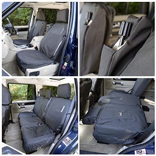 Tailored Fundas impermeables Negro Frontal Trasero Para Toyota Land Cruiser 2009+