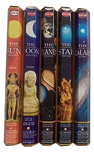 HEM Celestial Incense Variety Sun Moon Star Planet Galaxy,