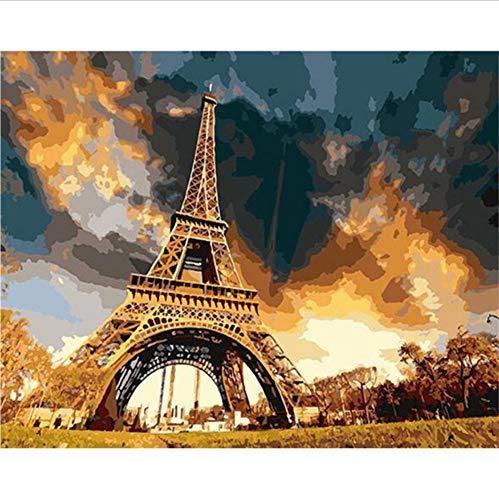 Puzzle 1000 Piezas Adultos Puzzle De Madera 3D Puzzle Clásico Paisaje De La Torre De París Coleccionables Diy Decoración Casera Moderna,75X50Cm
