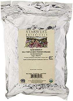 Starwest Botanicals Organic Milk Thistle Seed Powder 1 Pound