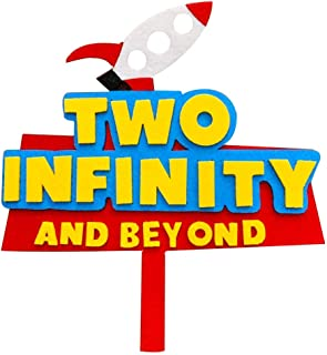Toy Story Cake Topper Two Infinity and Beyond Cake Topper Toy Story 2nd Birthday Party Decorations Buzz lightyear Toy Stor...