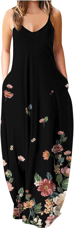 POTO Price reduction Summer Dresses for Women Casua 2021 Maxi Dress Sleeveless Floral
