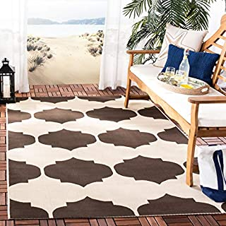 Safavieh Courtyard Collection CY6162-402 Beige and Chocolate Indoor/Outdoor Area Rug, 6 Feet 7-Inch by 9 Feet 6-Inch (B00NC2671E) | Amazon price tracker / tracking, Amazon price history charts, Amazon price watches, Amazon price drop alerts