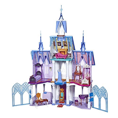 Disney FROZEN Ultimate Arendelle Castle Playset Inspired By The 2 Movie, 5 ft. Tall with Lights, Moving Balcony, and 7 Rooms with Accessories