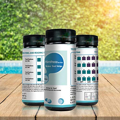 Pool Test Strips,Tub Water Test Strips Easy And Quick Detect PH, Total Chlorine, Free Chlorine, Total Alkalinity, Cyanuric Acid, Total Hardness
