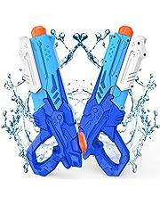 Kiztoys Pistola Acqua, 2 Pack Giocattoli Pistole ad Acqua 600ML, con Alta Capacità super liquidator, Acqua Giocattolo per Bambini e Adulti, per Feste All'aperto Piscina Estiva Sulla Spiaggia
