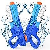 Kiztoys Pistola Acqua, 2 Pack Giocattoli Pistole ad Acqua 600ML, con Alta Capacità super ...