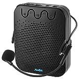Moukey Amplificador de Voz portatil 10 W con 1200 mAh Batería de Litio y Auriculares Micrófono con Cable, Soporta Audio en Formato MP3 para Profesor/Presentación/entrenamiento/Guía de Turismo