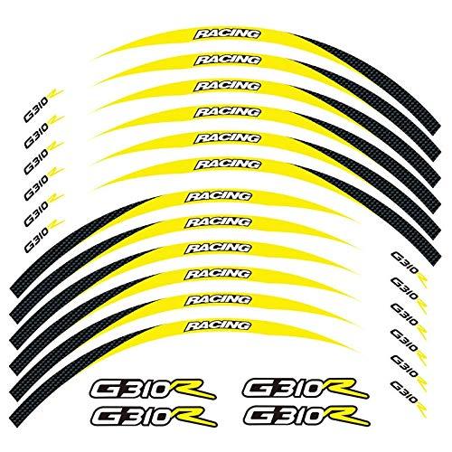 Etiqueta de la Rueda de la Motocicleta Equipo de Carreras de Motocicletas Accesorios Accesorios de Rueda llanta Rim Decoración Adhesiva Adhesiva Etiqueta de calcomanía para G310R G310R (Color : 21)