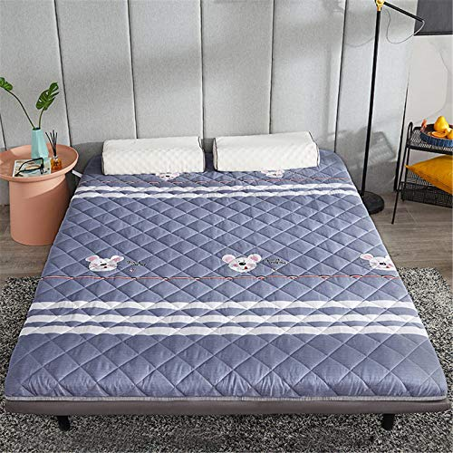 Mattress Pads,Skin-friendly Grinding Mao Breathable Not-slip Tatami Mat,Quilted Fushion For Guests Dorm Camping Lounging