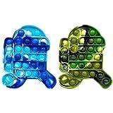 Kit De Juguetes Sensoriales, 2 Pack/Set Juguete Antiestres Pop-it Fidget Sensory Toys, Push Bubble Fidget Juguete Sensorial para Autismo Necesidades Especiales para Aliviar El Estrés