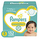 Baby Diapers Size 5, 132 Count - Pampers Swaddlers, ONE...