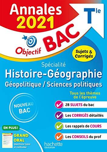 Annales Bac 2021 Spé Histoire-Géographie Term