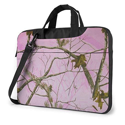 15.6 inch Laptop Shoulder Briefcase Messenger Pink Realtree Camo Tablet Bussiness Carrying Handbag Case Sleeve