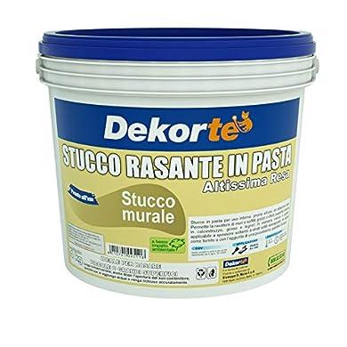 Foto di GDM-Stucco Rasante In Pasta, Ideale Per Rasatura Di Pareti Interne, Dekortè, Colore: Bianco, 4 kg