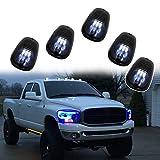 5 piezas luces de marcador de techo de coche luces de tráfico a prueba de agua luz de advertencia de separación para Jeep SUV camión Ford F150 Dodge Ram Cab luces de tráfico de marcador de techo,White