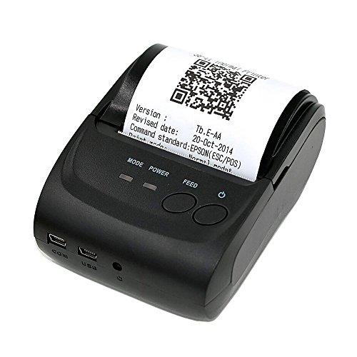 Redlemon Impresora Térmica Portátil Mini con Conexión Bluetooth Inalámbrica, para Tickets y Recibos…