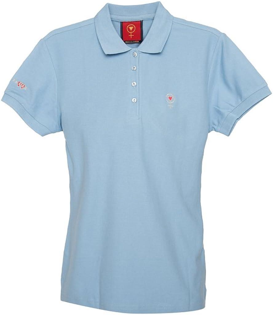 Coeur de Femme Womens Cotton Polo Shirt Sky M Blue