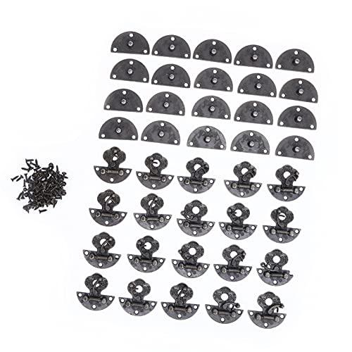 20PCS Vintage Lock Broche Aleación Sólido Bronce Tono Antiguo Pestillo de gancho derecho Cerrojo para joyero Gabinete Caja de madera pequeña Caja ordinaria Artesanía