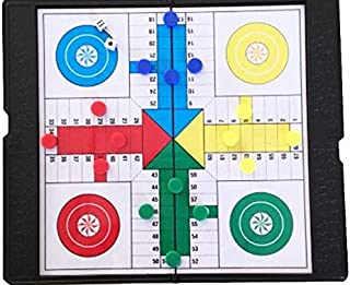 Ludo Game Small-Size 8X8 Inch Pachisi-Similar Board Game Table Game Ludo