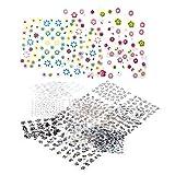 AIUIN 50 Piezas Pegatina de Uñas Francesas Guías de Clavar Tip Pegatinas Conjunto con Diferentes Formas para Uñas de Manicura,6.3 * 5.3cm