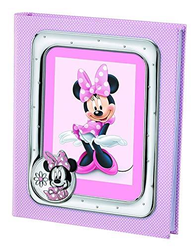 Disney Minnie Mouse - Album Diario Fotografico Porta Foto per Regalo Battesimo Neonato o Compleanno Bambini