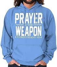Classic Teaze Prayer Weapon 2 Corinthians 10:4 Hoodie Sweatshirt Women Men Carolina Blue