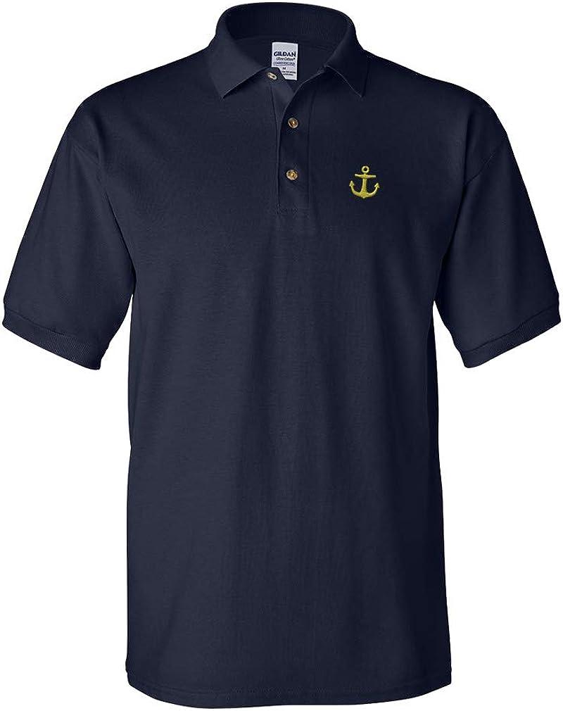 Custom Polo Shirt Anchor Nautical Embroidery Design Cotton Golf Shirt for Men