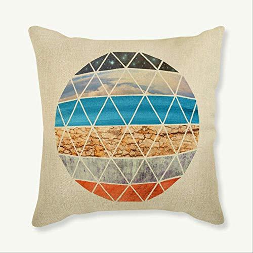 QIANGST Fodere per Cuscini Universo Space Earth Moon Mars Jupiter Fodera per Cuscino Cuscino Decorativo per la casa in Lino 45x45 cm con Imbottitura F