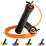ZenRope - Speed Rope Springseil Sport mit Gratis E-Book I Extra-Stahlseil, Tasche + Einstiegsguide I...