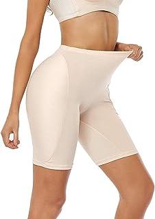 كروسدريسر وهمية Bum السراويل الوهمية رفع الأرداف ملابس داخلية داخلية مبطنة للنساء (اللون: بيج، المقاس: M)