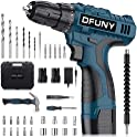 DFUNY 16.8VCordless Drill Screwdriver Hammer Set with 2 Batteries