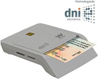 WOXTER Lector Dni Combo - Lector DNI electrónico, Compatible con Las Tarjetas Smart Cards o Tarjetas Inteligentes, con 3 Ranuras para Tarjetas, Color Blanco